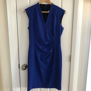 Calvin Klein Royal Blue Ruche Dress